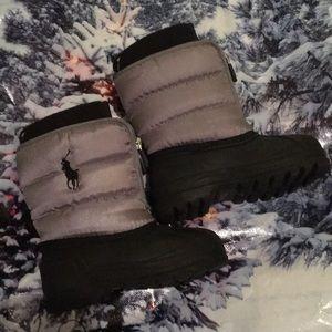 Ralph Lauren toddler boy Sz 7 boots like new